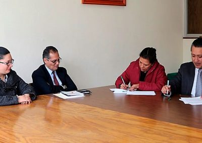 Firma de Convenio con la Universidad Intercontinental